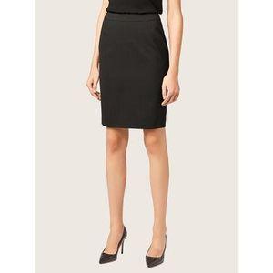 Boss Puzdrová sukňa Vilea 50291813 Čierna Slim Fit vyobraziť