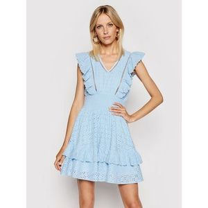 Guess Letné šaty W1GK0H WDVE1 Modrá Regular Fit vyobraziť