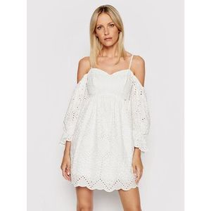 Rinascimento Letné šaty CFC0103587003 Biela Regular Fit vyobraziť