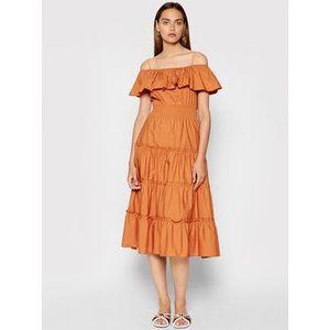 Rinascimento Letné šaty CFC0103583003 Oranžová Regular Fit vyobraziť