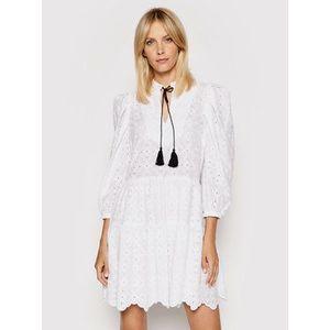 Rinascimento Letné šaty CFC0103616003 Biela Regular Fit vyobraziť