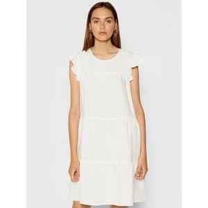 Rinascimento Letné šaty CFC0103416003 Biela Regular Fit vyobraziť