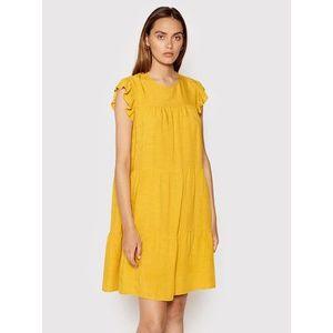 Rinascimento Letné šaty CFC0103416003 Žltá Regular Fit vyobraziť