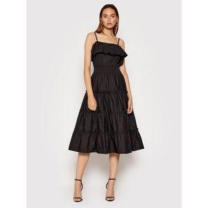 Rinascimento Letné šaty CFC0103583003 Čierna Regular Fit vyobraziť