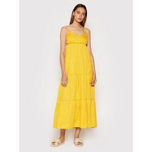 Rinascimento Letné šaty CFC0017921002 Žltá Relaxed Fit vyobraziť
