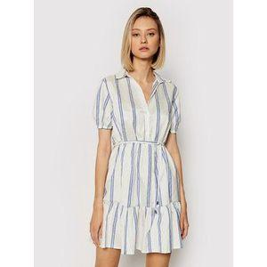 Rinascimento Letné šaty CFC0017919002 Biela Regular Fit vyobraziť