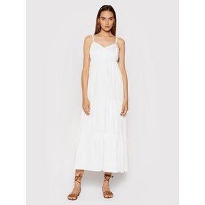 Rinascimento Letné šaty CFC0017921002 Biela Relaxed Fit vyobraziť