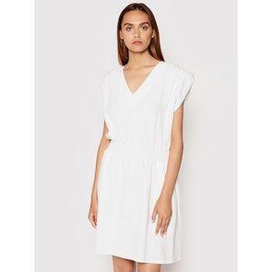 Rinascimento Letné šaty CFC0103488003 Biela Regular Fit vyobraziť