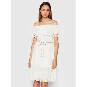 Rinascimento Letné šaty CFC0103455003 Biela Regular Fit vyobraziť