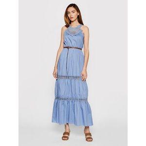 Rinascimento Letné šaty CFC0103508003 Tmavomodrá Regular Fit vyobraziť