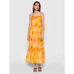 Rinascimento Letné šaty CFC0103696003 Oranžová Regular Fit vyobraziť