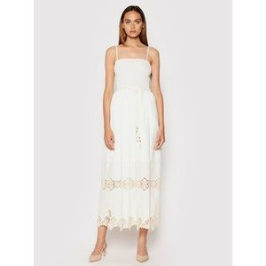 Rinascimento Letné šaty CFC0103454003 Biela Regular Fit vyobraziť
