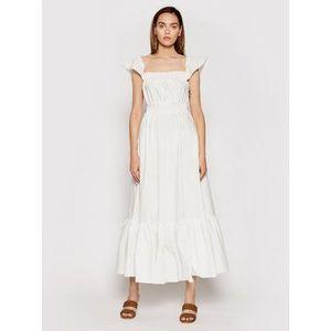 Rinascimento Letné šaty CFC0103666003 Biela Regular Fit vyobraziť