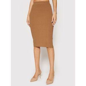 Guess Puzdrová sukňa Agnes W1YD9Z Z2U00 Hnedá Slim Fit vyobraziť