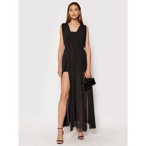 Rinascimento Večerné šaty CFC0103699003 Čierna Regular Fit vyobraziť