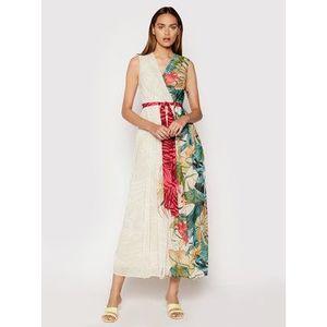 Rinascimento Večerné šaty CFC0103473003 Béžová Regular Fit vyobraziť