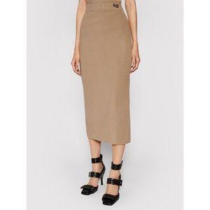 Liviana Conti Puzdrová sukňa F1WF29 Hnedá Slim Fit vyobraziť