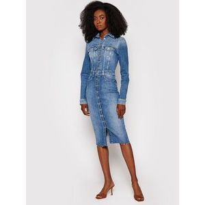 Guess Džínsové šaty Sexy Lola W1YK49 D46AC Modrá Slim Fit vyobraziť