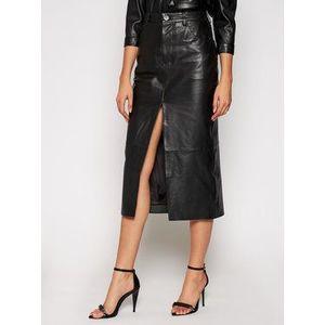 One Teaspoon Kožená sukňa Lola 23510 Čierna Slim Fit vyobraziť