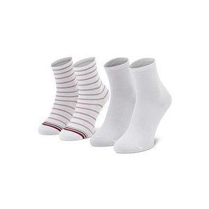 Tommy Hilfiger Súprava 2 párov vysokých dámskych ponožiek 100002817 Biela vyobraziť