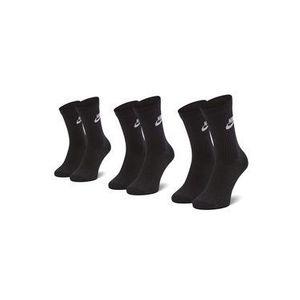 Nike Súprava 3 párov vysokých ponožiek unisex SK0109 010 Čierna vyobraziť