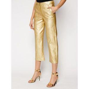 Pinko Nohavice z imitácie kože UNIQUENESS Busoni PE21 UNQS 1Q1088 Y6VG Zlatá Regular Fit vyobraziť