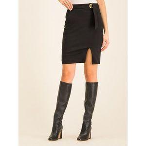 Cavalli Class Puzdrová sukňa A9IUB306 Čierna Slim Fit vyobraziť