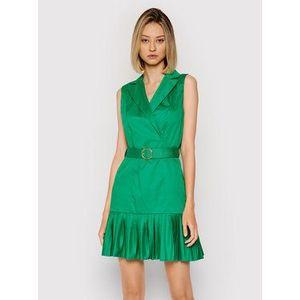 Rinascimento Košeľové šaty CFC0017897002 Zelená Regular Fit vyobraziť