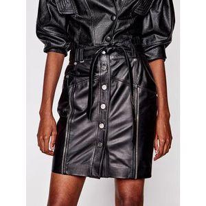 Rage Age Kožená sukňa Ngine 2 Čierna Regular Fit vyobraziť