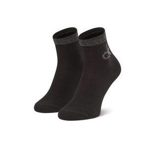 Calvin Klein Vysoké dámske ponožky 100001790 r.OS Čierna vyobraziť