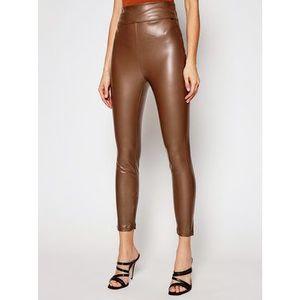 Guess Nohavice z imitácie kože Priscilla W1RB25 WBG60 Hnedá Slim Fit vyobraziť