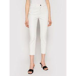 Pinko Nohavice z imitácie kože Susan PE 21 BLK01 1G15ZV 7105 Biela Slim Fit vyobraziť
