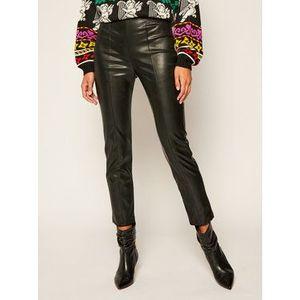iBlues Nohavice z imitácie kože Bartolo 77860306 Čierna Slim Fit vyobraziť