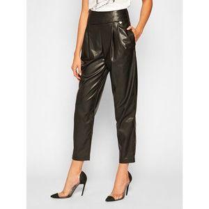 TwinSet Nohavice z imitácie kože 202TP2061 Čierna Regular Fit vyobraziť