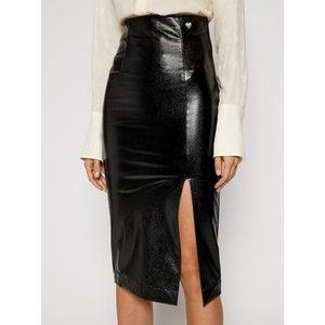 TWINSET Sukňa z imitácie kože 202TT2454 Čierna Slim Fit vyobraziť