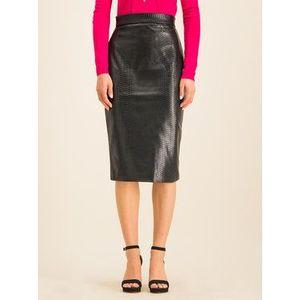 Guess Sukňa z imitácie kože Fatima W01D76 WCKL0 Čierna Slim Fit vyobraziť