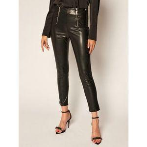 TwinSet Nohavice z imitácie kože 202TP2062 Čierna Slim Fit vyobraziť