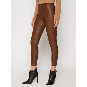 Pinko Nohavice z imitácie kože Anselmo Al 20-21 BLK01 1G1520 Y6BE Hnedá Slim Fit vyobraziť
