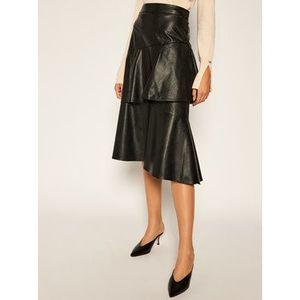 TWINSET Sukňa z imitácie kože 202ST2016 Čierna Regular Fit vyobraziť