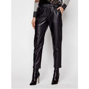 TwinSet Nohavice z imitácie kože 202LI2GDD Čierna Regular Fit vyobraziť