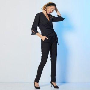 Vzdušné jednofarebné nohavice čierna 40 vyobraziť