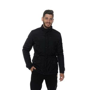 Čierny pánsky zimný kabát vyobraziť