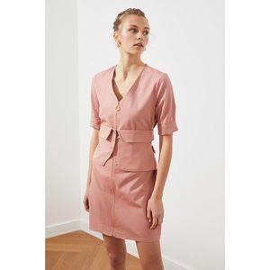 Trendyol Rose Dry Pocket Detail Zip Dress vyobraziť