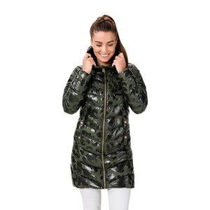 Kaki dámsky prešívaný vzorovaný kabát SAM 73 vyobraziť