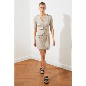 Trendyol Stone Pocket Detail Zip Dress vyobraziť