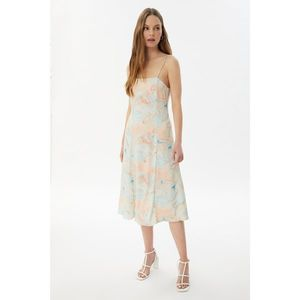 Trendyol White Knitted Dress vyobraziť