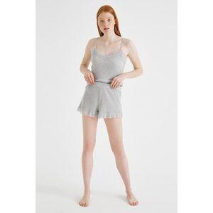 Koton Women's Gray Melange Shorts & vyobraziť