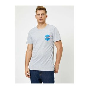 Koton Male Nasa Licensed Printed Short Sleeve Bike Collar T-Shirt vyobraziť