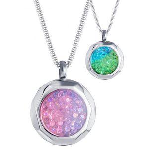 Preciosa Oceľový náhrdelník s kryštálmi Duo Colour 7313 70 vyobraziť