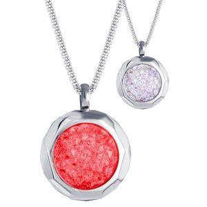 Preciosa Oceľový náhrdelník s kryštálmi Duo Colour 7313 63 vyobraziť